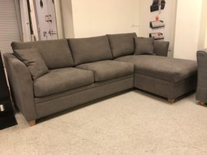 Soffa med divan förvaring