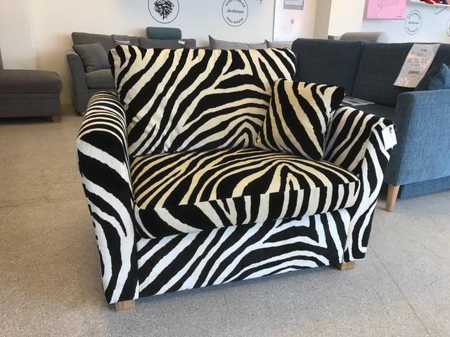 Zebra fåtölj