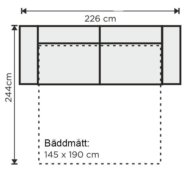 montana soffa storlek