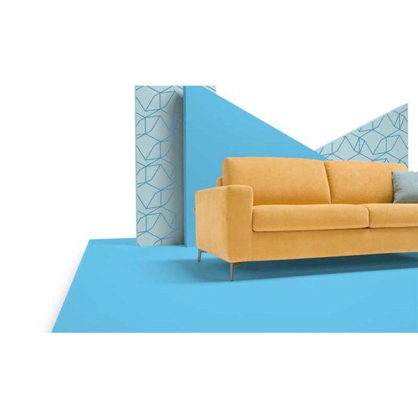 snygg soffa gul