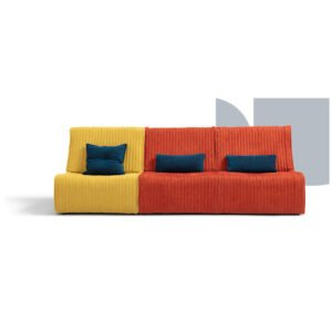 yello färgglad soffa