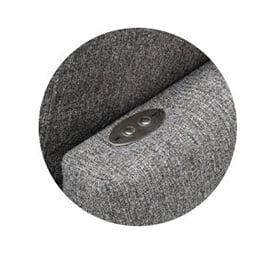 Knapp på soffans rygg
