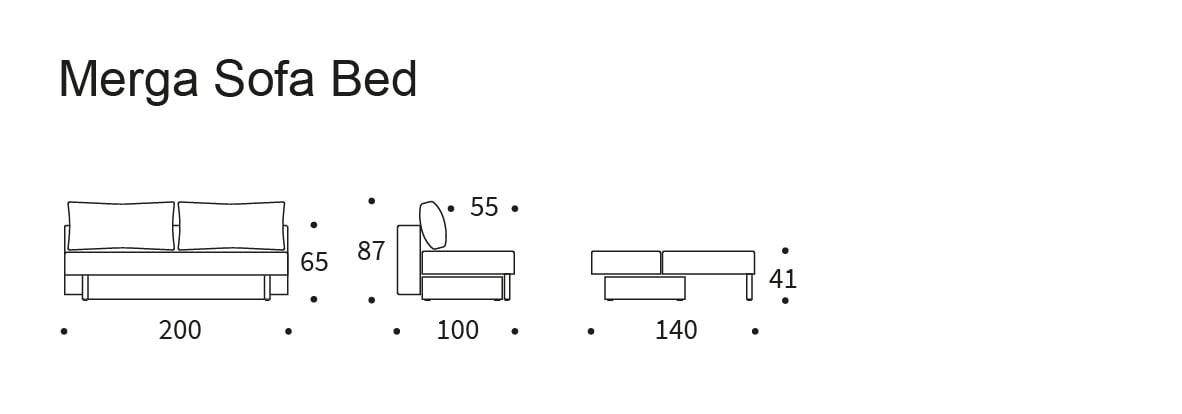 Merga Sofa Bed bäddsoffa från innovation living